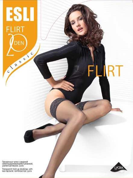 Купить Чулки женскиеFLIRT 20 ESLI  в интернет-магазине Grapefruit.su Conte в Москве с доставкой по России